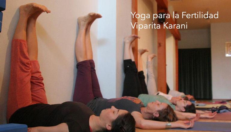 Infertilidad. Yoga para la Fertilidad. Viparita Karani