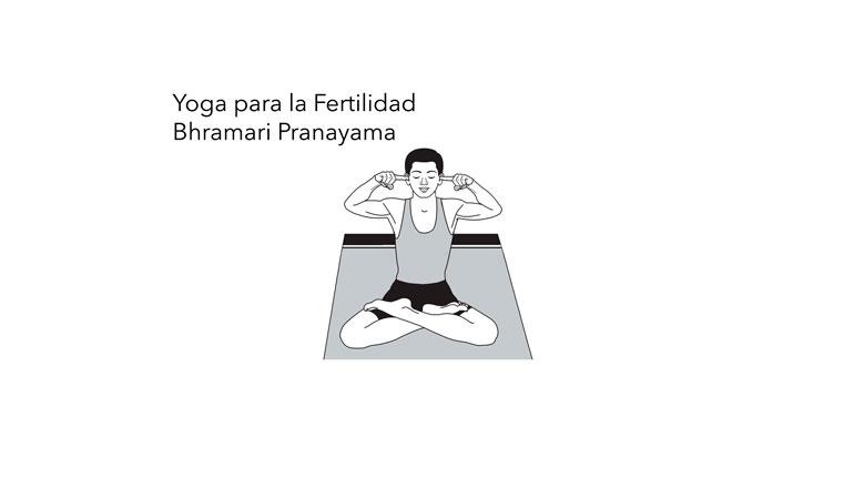 Infertilidad. Yoga para la Fertilidad. Bhramari Pranayama