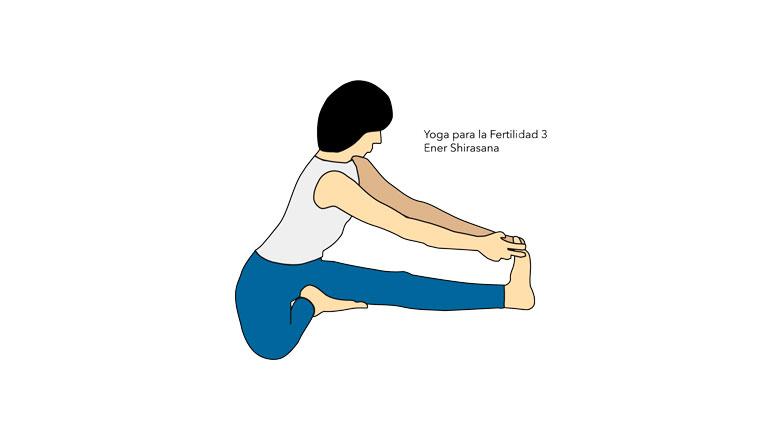 Yoga para la Fertilidad. Ener Shirasana
